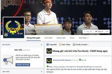 Câu hỏi trên facebook của Đường lên đỉnh Olympia